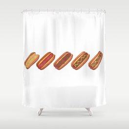 Evolution of A Hotdog Shower Curtain