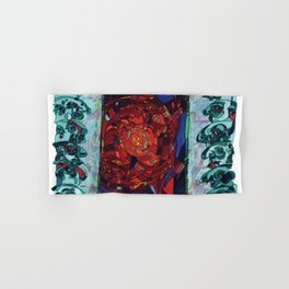 A Committee Looks Upon The Vortex (Maelga Turquoise Turbulante) Hand & Bath Towel