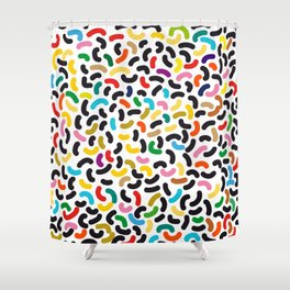 colored worms Shower Curtain