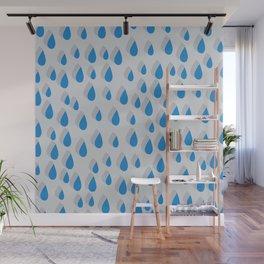 3D Water Drops Wall Mural