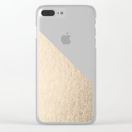 Simply Shadow in White Gold Sands Clear iPhone Case