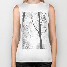 Tree Symphony (shades of grey) Biker Tank