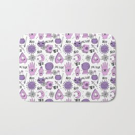 Ouija halloween potions crystal ball witch magic sorcerer pattern by andrea lauren Bath Mat