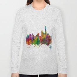 Shanghai China Skyline Long Sleeve T-shirt