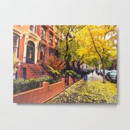 Autumn in Brooklyn Metal Print