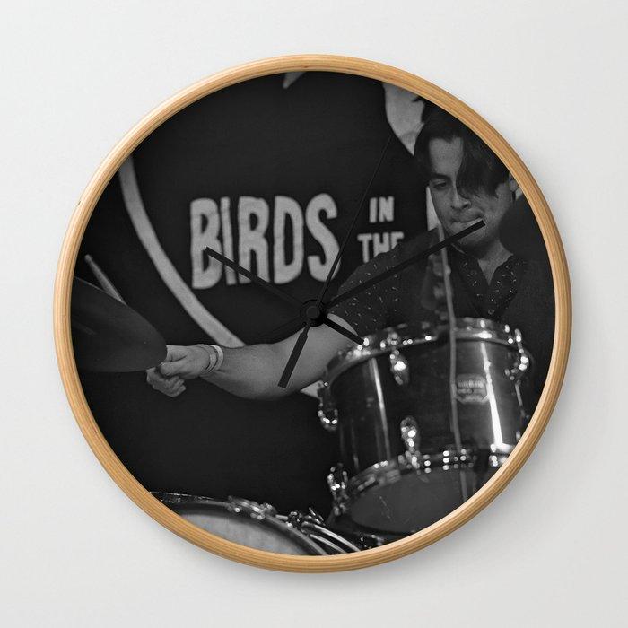 Birds in the Boneyard, Print 19: Teo Rocks! Wall Clock
