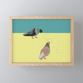 Pigeons Framed Mini Art Print
