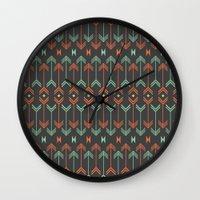 arrow Wall Clocks featuring Arrow by Priscila Peress