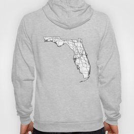Florida White Map Hoody