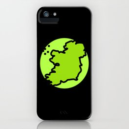 Irish Ireland Country Map iPhone Case