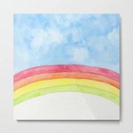 Watercolor rainbow Metal Print