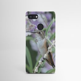 Ms. Hummingbird's Break Time in Mexican Sage Android Case
