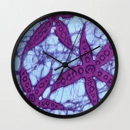 Starfish Batik Wall Clock