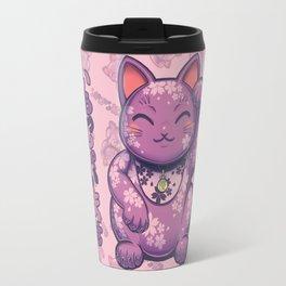 Hanami Maneki Neko: Yuu (Gentle) Travel Mug