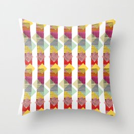 Skyscraper Geometric Throw Pillow