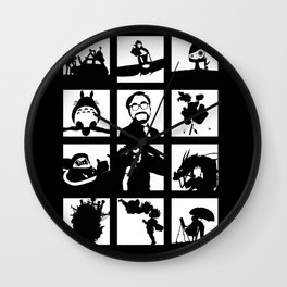 Tribute to Miyazaki Wall Clock