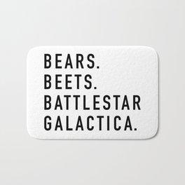 Bears Beets Battlestar Bath Mat