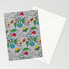 Ethnic Floral Flow Stationery Cards