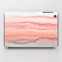 coral iPad Cases featuring WITHIN THE TIDES CORAL DAWN by Monika Strigel