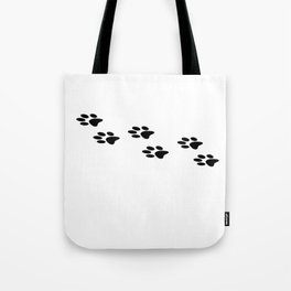 Black Paws I Love Dogs Dog Puppy Shirt Tote Bag