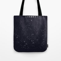 constellations Tote Bags featuring Constellations by Seana Seeto