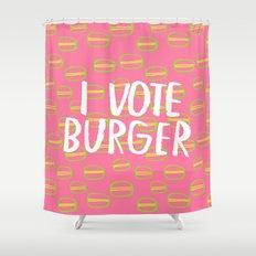 I Vote Burger Shower Curtain