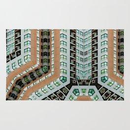 Graphic design futuristic residential Rug