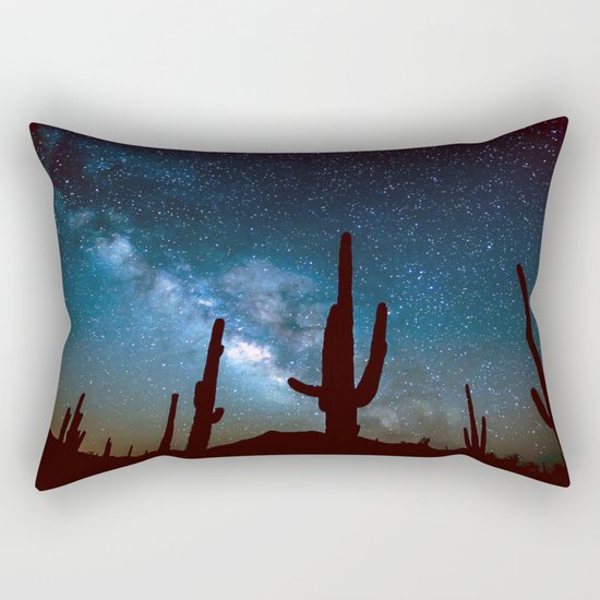 Milky Way Cacti Rectangular Pillow