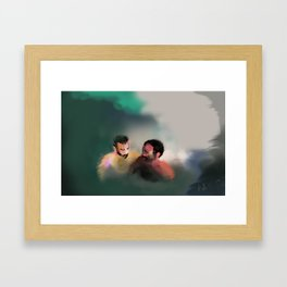 with this gentle sting between us Framed Art Print