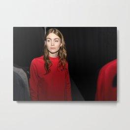 Lady in Red Metal Print