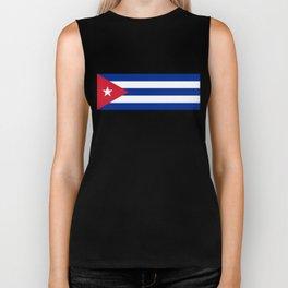 Flag of Cuba - Banner version (High Quality Image) Biker Tank