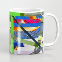 agnes Mugs featuring Agnes (stripes 16) by Wayne Edson Bryan