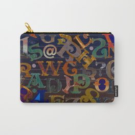 Vintage Alphabet Carry-All Pouch