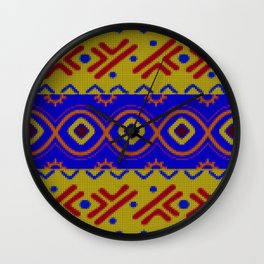 Ethnic African Knitted style design Wall Clock