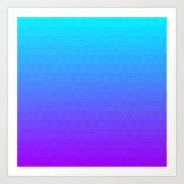 Blue and Purple Ombre Art Print