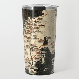 Map Of Newport 1933 Travel Mug