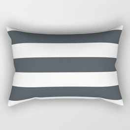 Arsenic - solid color - white stripes pattern Rectangular Pillow