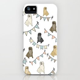 Golden Retrievers and Banners pattern iPhone Case