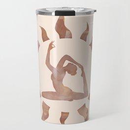 King Pigeon Yoga Pose Travel Mug