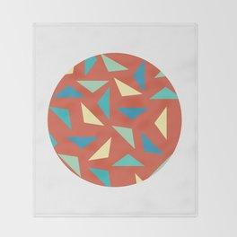 circular triangular Throw Blanket