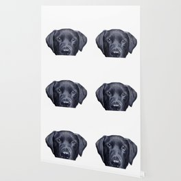 Labrador with white background Dog illustration original painting print Wallpaper