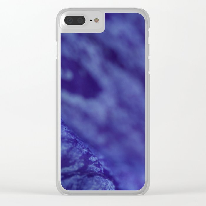 Flower Petal Violet Ripple Clear iPhone Case