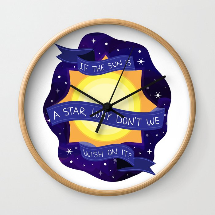 If the Sun is A Star Wall Clock