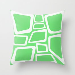 Mid Century On Pastel Green - Abstract Design Throw Pillow