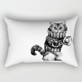 Cat in a sweater Rectangular Pillow