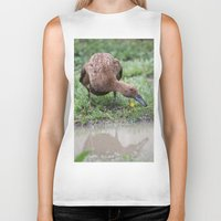 runner Biker Tanks featuring Chocolate Runner by Stecker Photographie