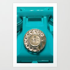 OLD CYAN PHONE - for IPhone Art Print