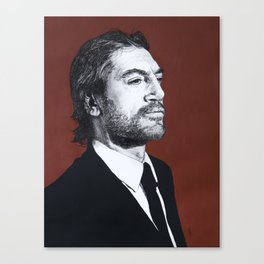 Portrait of Javier Bardem Canvas Print