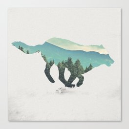 Wolf III Canvas Print