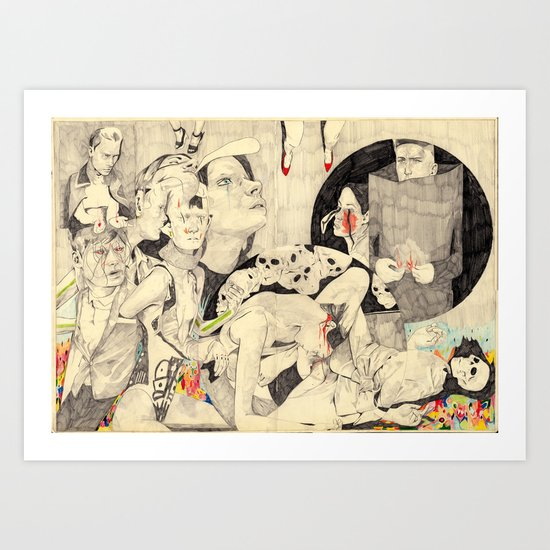 Mörder Art Print